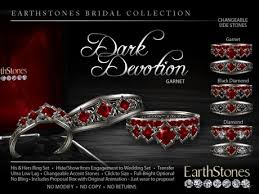 gothic ruby rings images Second life marketplace earthstones gothic wedding rings dark jpg