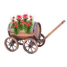 Wooden Wheelbarrow Planter by Wooden Wheelbarrow Planters Pots U0026 Window Boxes Ebay