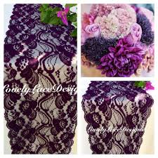 plum lace table runner 3ft 10ft x 7 wide receptions overlay