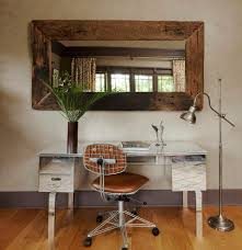 Office Rolling Chairs by Rustic Industrial Office Home Office Eclectic With Hardwood Floors