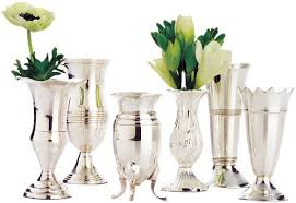 Silver Vase Amazon Com Two U0027s Company Queen Anne U0027s Vases Silver Plated Brass