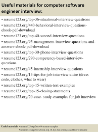 Resume Templates For Software Engineer Top 8 Computer Software Engineer Resume Samples