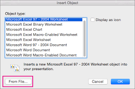 use excel data or formulas in powerpoint 2016 for mac powerpoint