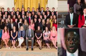 white house intern group photo sparks searing get out meme sfgate