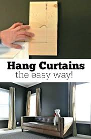 best way to hang curtains hanging curtains without drilling teawing co