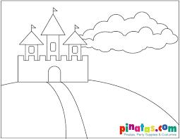 simplistic castle coloring pages castle coloring pages image 11