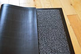 Big Rug Big Extra Large Grey And Black Barrier Mat Rubber Edged Heavy Duty