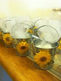 Michaels Wedding Arches Sunflower Wedding Favor Buckets And Flower Stickers At Michaels