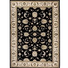 Black Area Rugs Home Dynamix Bazaar Floral Heirloom Black Ivory 7 Ft 10 In X 10