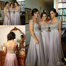 gray bridesmaid dress norma couture silver grey coral lavender cap sleeve sheer back