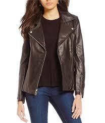cheap moto jacket women u0027s leather u0026 faux leather coats dillards