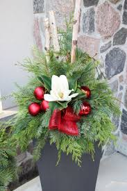 Outdoor Planter Ideas by 345 Best Winter Containers Images On Pinterest Christmas Urns