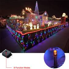8 function multi color led christmas lights 20m 250 led multi color string fairy lights party wedding garden in