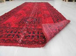 Wool Runner Rugs Hand Knotted Vintage Over Dyed Red Turkish Runner Rug 0023