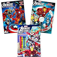 amazon marvel avengers coloring book avengers crayons