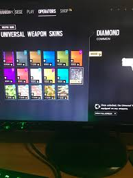 siege television they gave the most expensive skin in the common rarity rainbow6