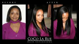 hair extensions dc before after cocolarue hair collection