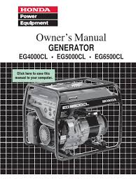 honda generator manual eg6500 4000cl 5000cl mains electricity