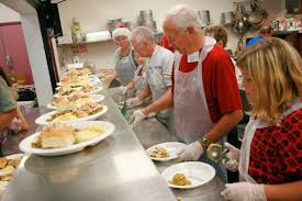 salvation army gears up for their big thanksgiving meal and are in