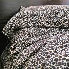 Cheetah Bedding New Luxury Leopard Fur Queen Sz Doona Duvet Quilt Cover Animal