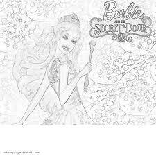 coloring pages barbie the secret door