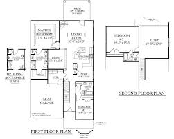 2 story floor plans with garage house plan englewood floor traditional story garage with loft 2