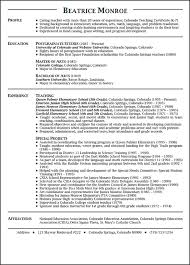 Preschool Teacher Resume Objective Preschool Teacher Resume Sample Free Http Www Resumecareer