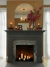 mantel fireplace mantel decor with bricked wall and antique