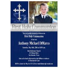 holy communion invitations holy communion invitation photo template navy blue