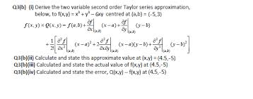 solved derive the two variable second order series