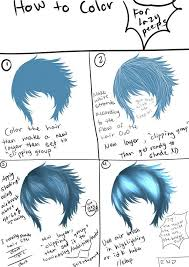 the lazy tutorial hair coloring by bishiesan on deviantart