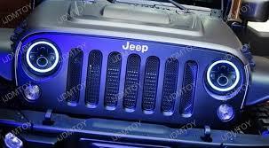 led lights for jeep wrangler jeep wrangler cj 40w high power cree 7 inch round led headlights
