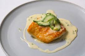 Beurre Blanc Sauce Recipe by Turbot With Cucumber Beurre Blanc Recipe Great British Chefs