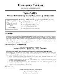 Personal Assistant Resume Sample by Celebrities For Celebrity Personal Assistant Resume Sample Www
