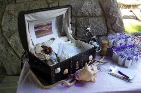 Treasure Chest Favors by Ea Glass Wedding