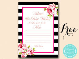Advice Cards For Bride Free Gold Black Stripes Bridal Shower Games Bridal Shower Ideas
