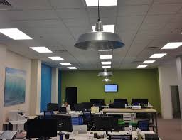Galvanized Barn Light Fixtures Galvanized Barn Lighting Adds Industrial Vibe To Office Space