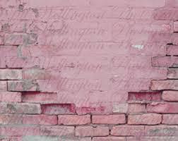 Pink Brick Wall Brick Wall Etsy