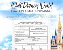 printable disney planning guide disney travel info trip guide create your own printable walt