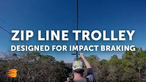 lightspeed impact zip line trolley head rush technologies youtube
