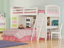 Loft Bed With Desk For Teenagers Bedding Endearing Girls Bunk Beds Cool Bedroom Decorating Ideas