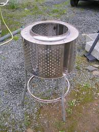 Washing Machine Firepit Stainless Steel Garden Incinerator Patio Heater From Recycled