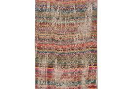 Turquoise Brown Rug 94x132 Rug Ravi Stripes Living Spaces