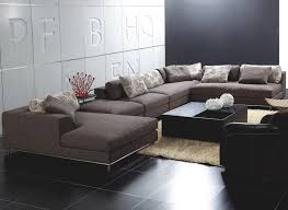 Contemporary Sofas Modern Brown Fabric Sectional Sofa Concept In - Fabric modern sofa