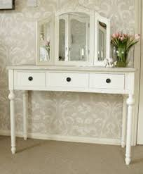 overstock com traditional cherry and cream vanity dressing table