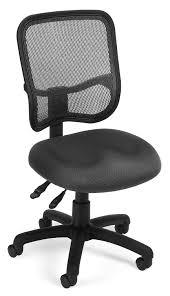 White Armless Office Chair Amazon Com Ofm Comfort Series Ergonomic Mesh Swivel Armless Task