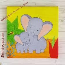 deco chambre bebe jungle tableau enfant bébé savane jungle éléphants déco originale