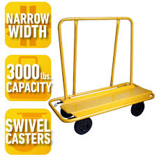 pro series 3000 lb load capacity drywall cart 800005 the home depot