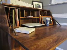 custom made black walnut drop front secretary desk by northeast