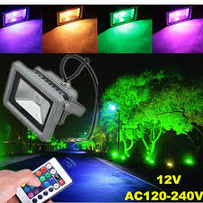 10w outdoor garden light waterproof rgb color changing flashlight